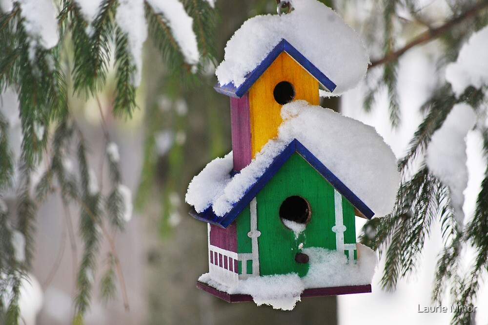 2-Storey Birdhouse...with all the trimmings :) by Laurie Minor