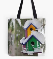 2-Storey Birdhouse...with all the trimmings :) Tote Bag