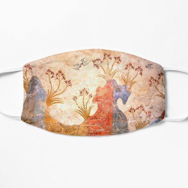 Minoan Spring Fresco West Wall Swallows Scene Flat Mask