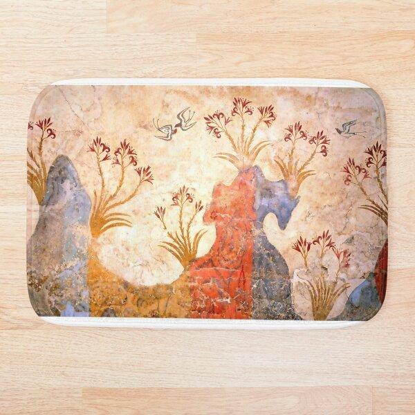 Minoan Spring Fresco West Wall Swallows Scene Bath Mat