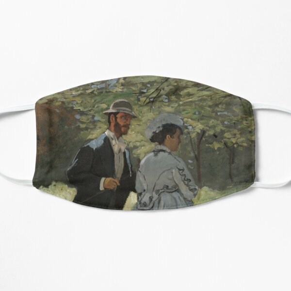 Bazille and Camille Claude Monet Flat Mask