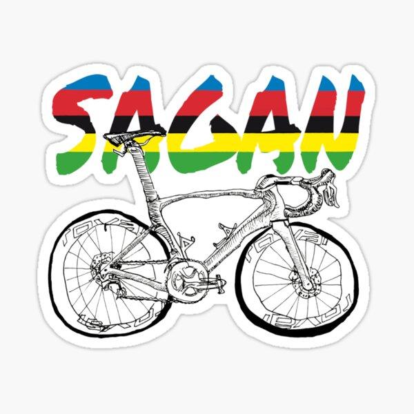 S-Works Sagan Regenbogen Jersey Fahrrad Zeichnung Sticker