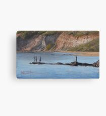 Rock fishing Canvas Print