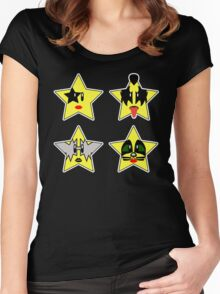 Super (Rock) Stars Women's Fitted Scoop T-Shirt