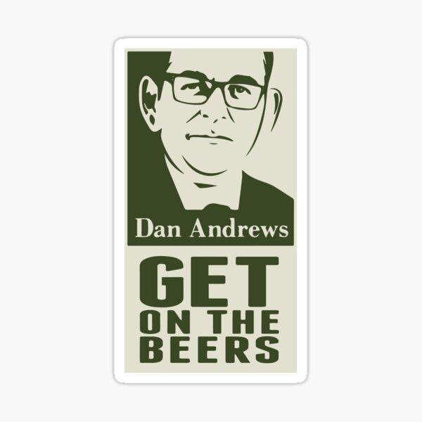 Get on the Beers (original artwork) Sticker