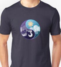 Celestia/Luna Sky and Clouds Yin Yang - Subtle Brony T-Shirt
