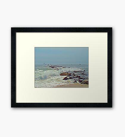 Jetty - Island Beach State Park NJ Framed Print