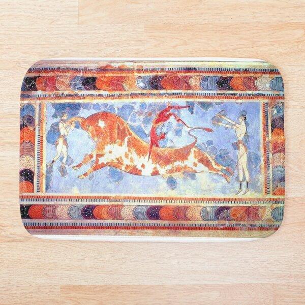 Minoan Bull Leaping Fresco Bath Mat