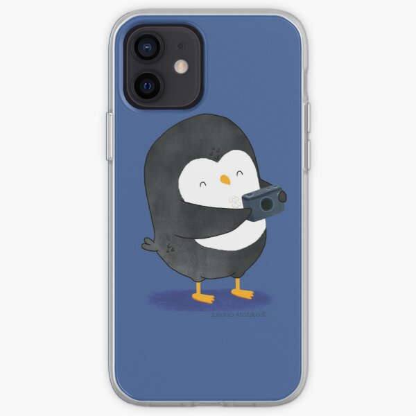 Photographer Penguin iPhone Soft Case