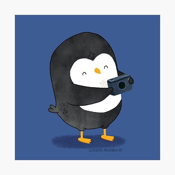 Photographer Penguin Photographic Print