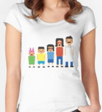8-Bit Burgers Women's Fitted Scoop T-Shirt