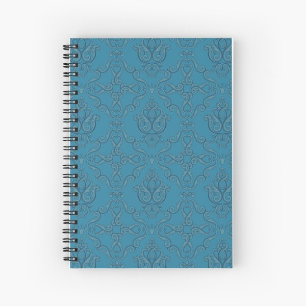 Damask in Ocean (Emmaline: Coordinate) Spiral Notebook