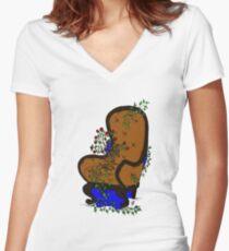 LivingChair Women's Fitted V-Neck T-Shirt