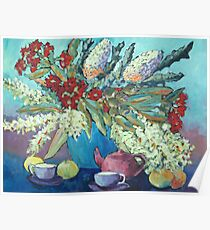 Summer flowers , acrylic Poster
