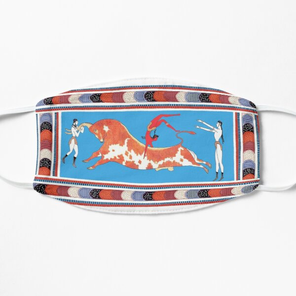 Minoan Bull Leaping Toreador Fresco Restoration Mask