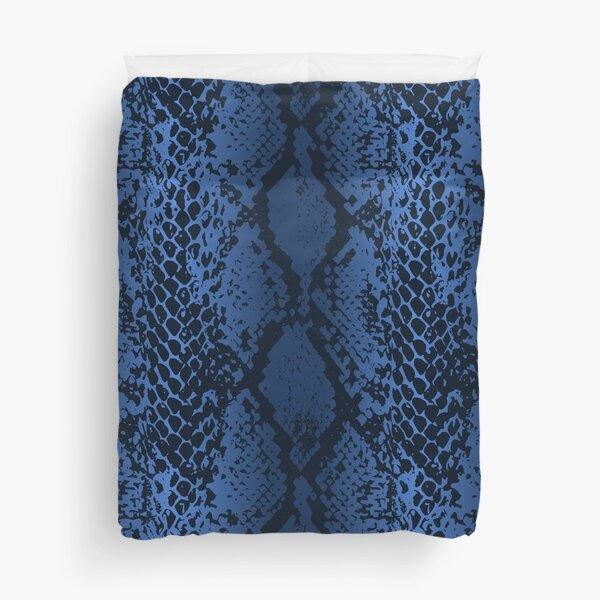 Snake Print Blue Gradient Duvet Cover