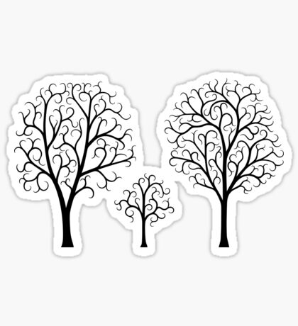 Small Tree Family Sticker