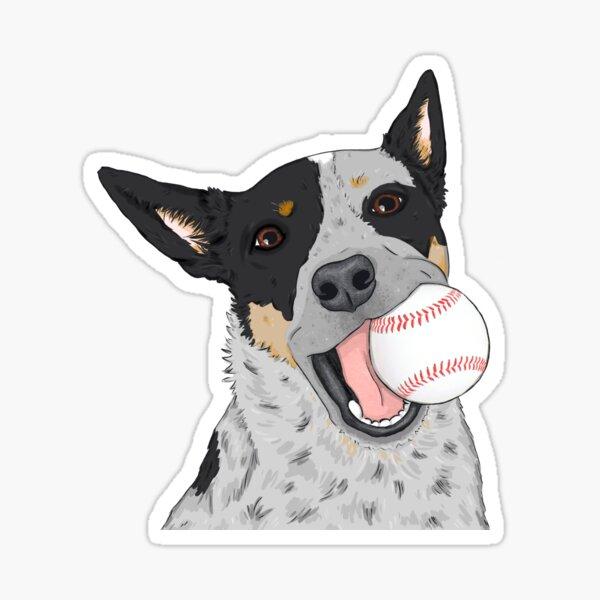 Blue Heeler Baseball, Cattle Dog, by Artwork by AK Sticker