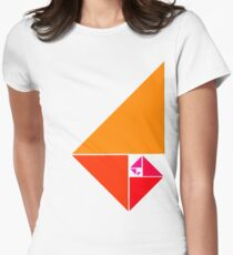 Golden ratio Womens Fitted T-Shirt