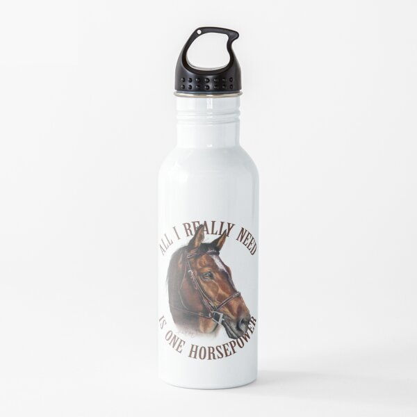One Horsepower Brown Horse  Water Bottle