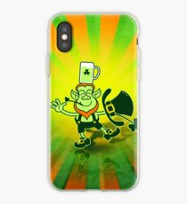 Leprechaun Balancing a Glass of Beer on his Head iPhone Case