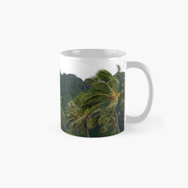 Green Palm Trees Hawaii Against a  Classic Mug