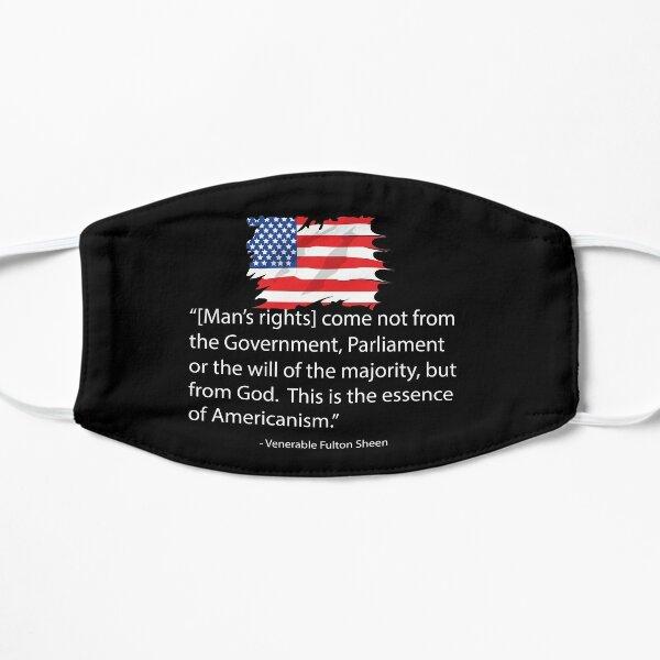Fulton Sheen Americanism Quote Flat Mask
