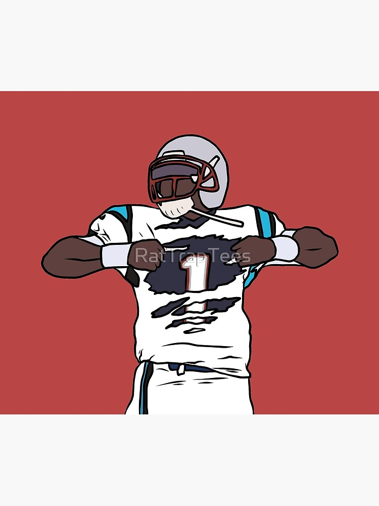 Cam Newton Patriots by RatTrapTees