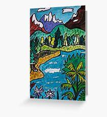 Fantasy Landscape Greeting Card
