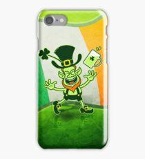 Euphoric Leprechaun Celebrating St Patrick's Day iPhone Case/Skin