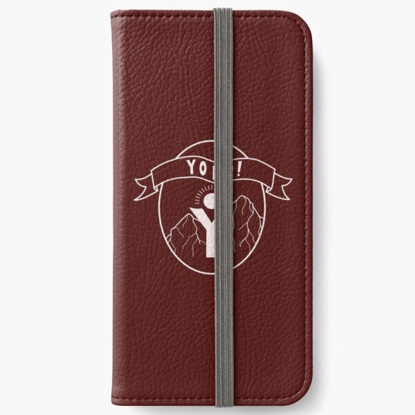 Maroon Yopp Logo iPhone Wallet