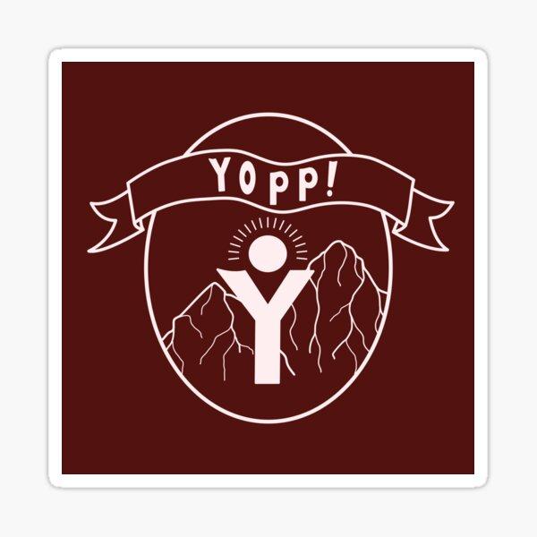Maroon Yopp Logo Sticker