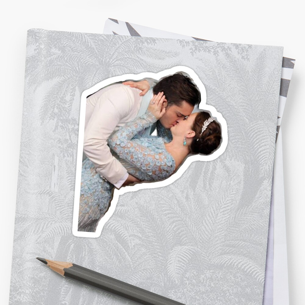 """""""chuck and blair wedding kiss"""" Sticker by cateoconnor ..."""