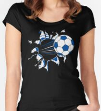 Soccer Women's Fitted Scoop T-Shirt