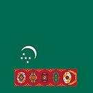 Turkmenistan Flag by pjwuebker