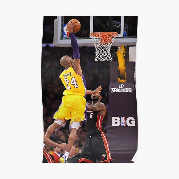 Kobe Dunk Posters Redbubble