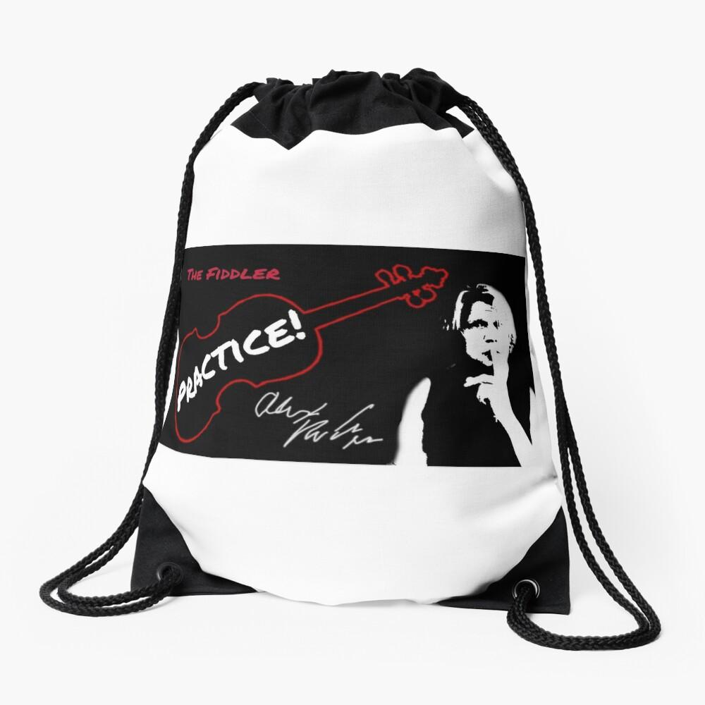 "Alex DePue ""Practice"" w/ signature design, all products! Drawstring Bag"