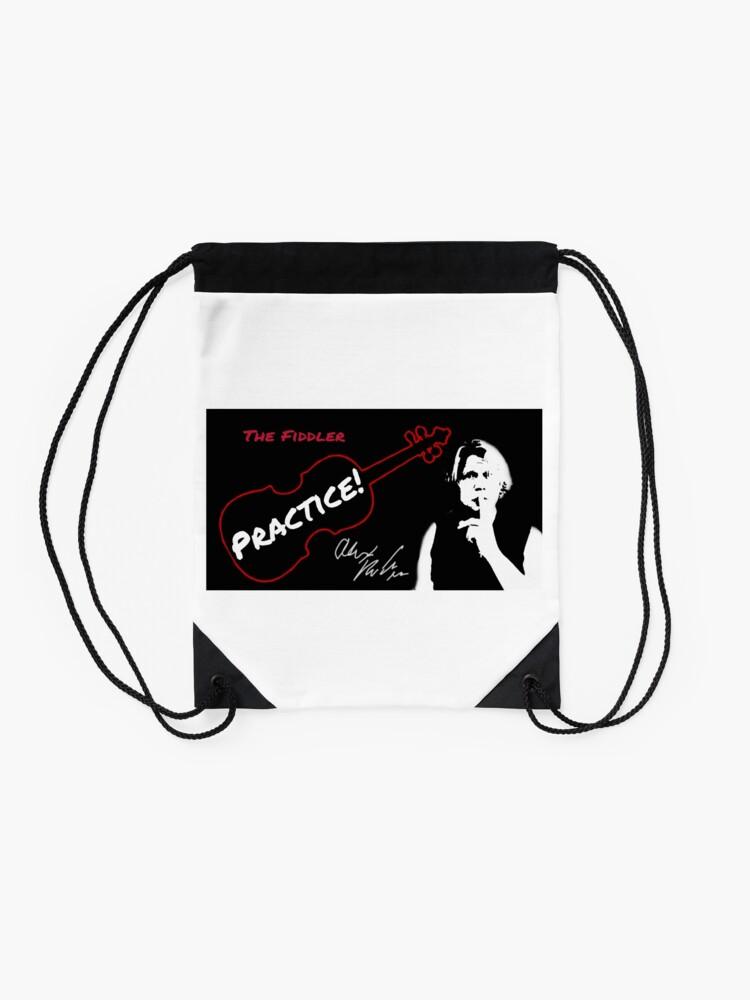 "Alternate view of Alex DePue ""Practice"" w/ signature design, all products! Drawstring Bag"