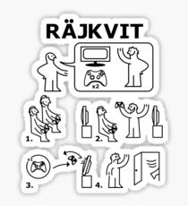 Rajkvit Sticker
