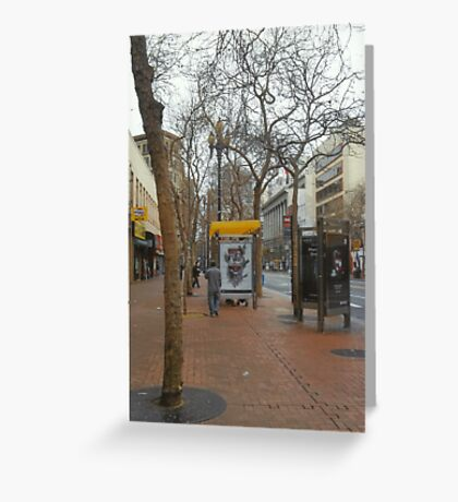 A Street In San Francisco Greeting Card