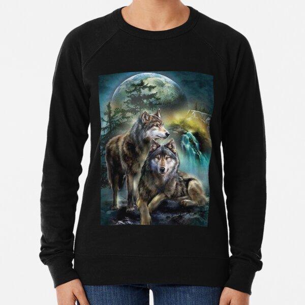 Animal Zoo Coyote Arctic Twilight Art Wolf In Full Moon Womens Black Hoodie