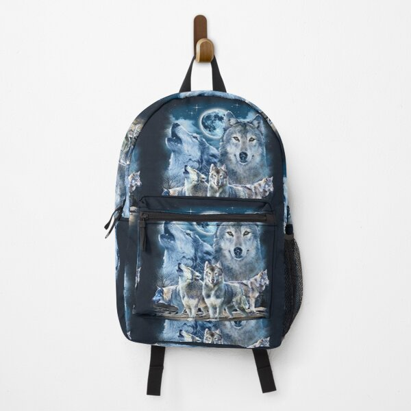Wolf Fox 3 Wolf Animal Graphics Art Backpack