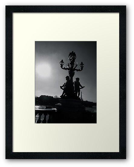 Paris bridge black & white by graceloves