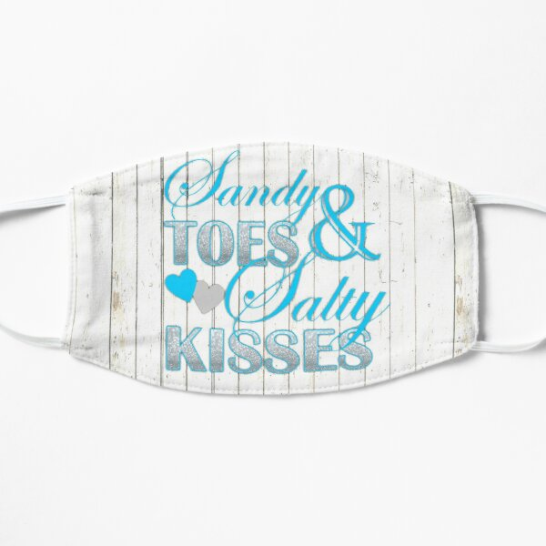 Shabby Chic barn wood Sandy Toes and Salty Kisses Flat Mask
