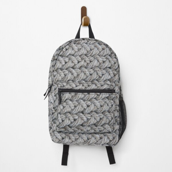 Hip grey sweater texture chunky knit Backpack