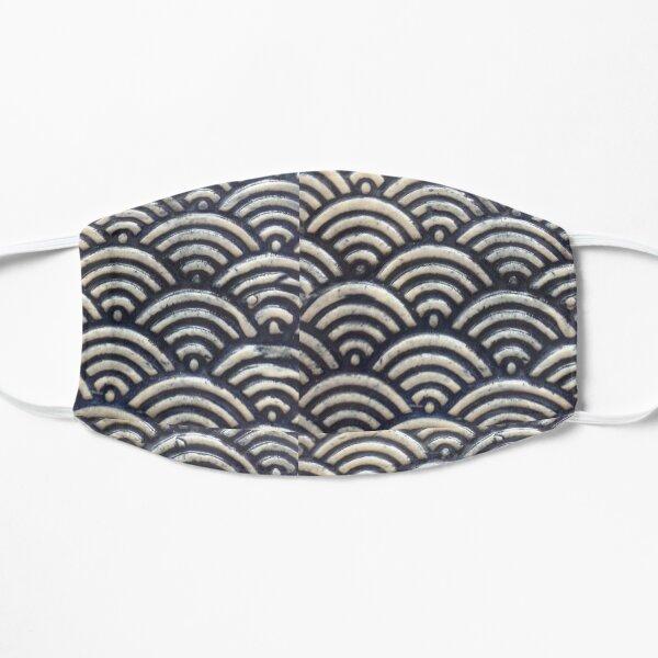 Indigo Waves Flat Mask