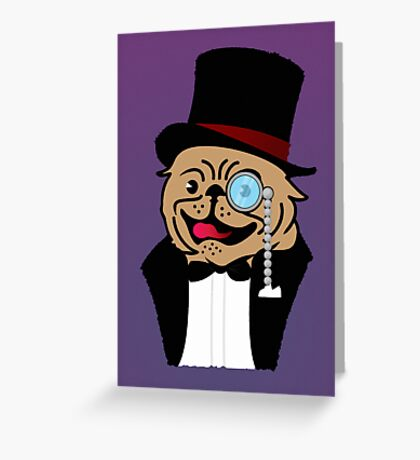 Sir Pug VRS2 Greeting Card