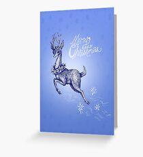 Dasher Deer Greeting Card