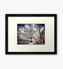 Brookline, MA. Just another winter day. Framed Print