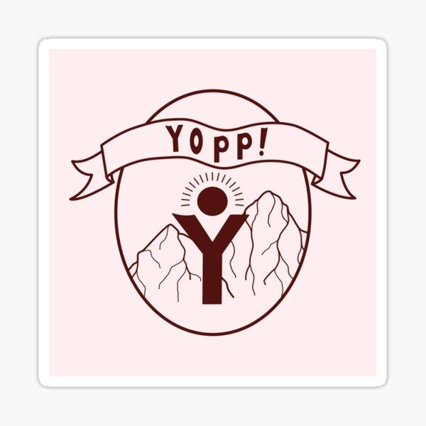 Pale Pink Yopp Logo Sticker